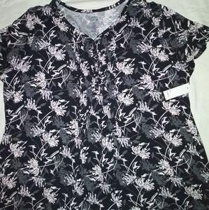Croft & Barrow Floral print shirt size 4x